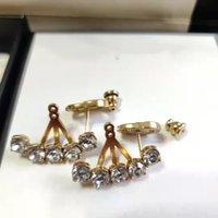 أعلى تصميم سحر حلق رسائل خمر 925 الفضة إبرة earingsdiamond الذهب للمرأة هدية العرض