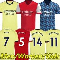 Arsen Soccer Jerseys 21/22 Gunners Odegaard Thomas Pepe Saka Tierney Henry Willian Smith Rowe Nicolas 2021 2022 كرة القدم قميص الرجال النساء كيد مجموعات مجموعات موحدة