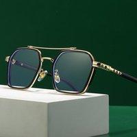 Fashion Sunglasses Frames Anti-Blue Glasses Women Double Beam Optical Eyewear Men Oversize Square Frame Metal Eyeglasses Unisex Spectacles