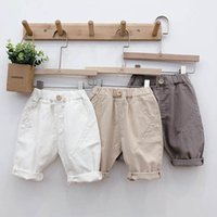 Kinder Shorts Sommer Mädchen PP Pants Baby Wear Jungen Beiläufige Lose Kinder Jeans Kleidung Kleidung Baumwolle Knielangen B5840