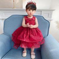 Kızın Elbiseleri Sonra Boncuk Vaftiz Prenses Toddler Doğum Günü Partisi Bebek Kız Yaz Balo Elbise Doğan Çocuk Vaftiz 1 yıl