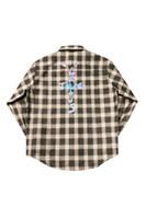 Giacche da uomo Travis Scott Cactus Jack Jack Shirt TS Lavern Plaid Maniche lunghe Hip Hop Abbigliamento maschile maschile
