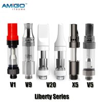 100% Original ITSUWA AMIGO LIBERTY ATOMIERT V1 V9 V20 V5 X5 Cartuchos Tanque Cerámica Cerámica Vaporizador de aceite grueso para batería máxima Auténtico