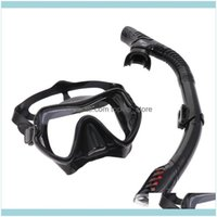Diving Masks Scuba Water Sports & Outdoors1 Mask Respirator Kit Snorkeling Mirror Set Sile Suit For Men And (Black) Drop Delivery 2021 Xfbg3