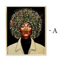 Dipinti Ruopoty 60x75cm Telaio colore Astratto Donna Pittura fai da te di numeri acrilici dipinto a mano verniciato a olio di vernice Home Decor Art