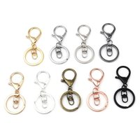 Keychains 1Packet ( 5 PCs Packet) Doreen Beads Punk Style Keychain Keyring Circle Ring Infinity Symbol DIY Jewelry Making 70mm X 30mm