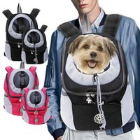 Outdoor Pet Dog Carrier Bag Teddy Front Mesh Backpack Head Portable Out Double Shoulder Travel Car Seat Covers