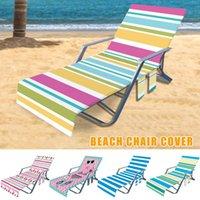 Aufblasbare Floats Röhrchen Mikrofaser Strandtuchabdeckung Lounge Stuhl mit Seitentasche Schnelles Trocknen für Pool El Ferien Sonnenbaden Als88