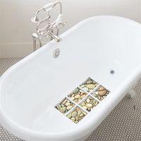 Funlife 3D Anti Kayma Su Geçirmez Küvet Sticker, Kendinden Yapışkanlı Küvet Çıkartması, Çocuklar Için Arnavutluk Duş Banyo Paspaslar Banyo Dekor BWA5408