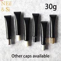 30g Boş Siyah Plastik Sıkma Şişe 30 ml Kozmetik Göz Kremi Yumuşak Tüp El Losyonu Merhem Konteynerler Yüksek Adet