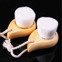 Eyelash Curler Face Cleansing Brush Facial Cleanser Wood Handle Exfoliator Scrub Washing