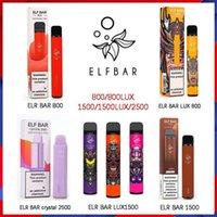 100% original Elf Bar Crystal Lux Wegwerf Elektronische Zigaretten Device Vape Pod 600 800 1500 2500 Taucher Hotsale-Leistungs-Einwegartikel 2% und 5% Kräfte verfügbar Geek