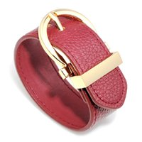 High Quality Multicolors 2.8MM Width PU Leather Adjustable Cuff Bracelet for Women