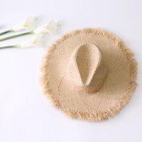 Primavera ed estate Jazz Bord Bordo Paglia Cappello Casual Fashion Ladies Seaside Travel Sun Visor Beach Wide Brim Hat