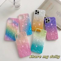 High Quality Luxury Shiny Shell Soft IMD TPU Cases For Iphone 13 Pro Max 12 Mini 11 XS XR X 8 SE2 6 Plus Touch 7 5 Bling Sequin Rainbow Gradient Fashion Cell Phone Back Cover