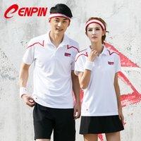 chengpin 배드민턴 의류 공 유니폼 탑 티셔츠 망 및 여자 민소매 반팔 라운드 목 Lapel 테니스 테니스 퀵 드라이