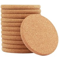 Dishes & Plates Natural Cork Round Edge Coasters -12 Packs Extra Thick Wooden Drink , 4 Inch Diameter And 2 5 Plain