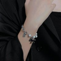 Beaded, Strands Reflective Pearl Stitching Coin Pony Bracelet Women Bangles For Bangle Love CN(Origin)