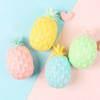 2021 DHL Eğlenceli Yumuşak Ananas Anti Stres Topu Stres Rahatlatıcı Oyuncak Çocuk Yetişkin Fidget Squishy Antistress Yaratıcılık Sevimli Meyve Oyuncakları CY15