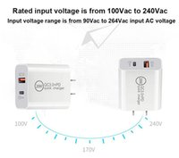 20w QC3.0+PD Wall Charger Fast Charging High Quality Type C USB Compact Power Adapter PD QC3.0EU US UK AU Plug For iPhone 11 12 13 pro Samsung S20 Xiaomi