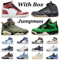 С коробкой Jumpman 1 Chicago Баскетбольные туфли Мужская Женская Высокая Мока Выкл.