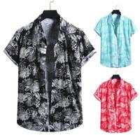 Camicie casual da uomo Camicia estiva Shirt Stile Hawaii Style Manica Corta Abbigliamento Singolo Collare Abbigliamento Singolo Bresed Camisas PARO HOMBRE