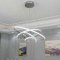 펜 던 트 램프 크롬 도금 된 현대 LED 조명 Dinning 룸 Lampadario Moderno Lustre 3/2/1 회로 램프 램프