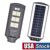 태양 LED 가로등 야외, 624 칩 DAWN to Dawn 원격 제어 6500K 화이트 보안 홍수 램프와 새벽 옥외 방수 조명