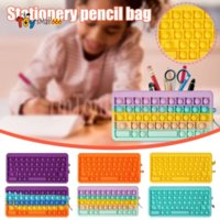 Fidget Toys pencil case Colorful Push Bubble keyboard Sensory Squishy Stress Reliever Autism Needs Anti-stress Rainbow Adult Toy For Children Gift
