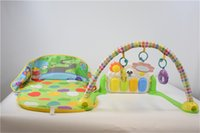 Tapetes Playmats Tapete Play Mat Ambiental Amigável Carro Cartoon Carro 3 em 1 Bebê Fitness Stand Pedal Piano