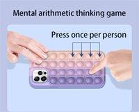 Reliver Stress Toys Push It Pop Fidget Bubble cases for iphone7 8 xsmas xr 11 12pro se mini cover Antistress Sensory Game toy