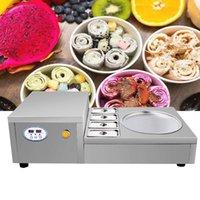 740W Fried Ice Cream Machine Making Roll Ice Cream Fried Ice Machine Commercial Fried Yogurt Machine