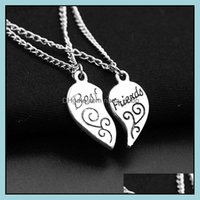 Pendants Jewelrychain Foreign Trade Pretty Friend Friendship Heart-Shaped Broken Heart Pendant Necklace Friends Necklaces & Drop Delivery 20