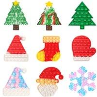 23 تصاميم شجرة عيد الميلاد تخزين القفاز تململ دفع البوب لعب البوب فقاعة فقاعة بوبر مجلس لعبة التعادل صبغ عيد الميلاد سانتا فقرة قبعة قبعة القفازات poo- لها إصبع لغز g74n73i