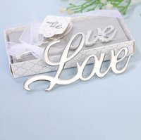 Silver Love Design Beer Bottle Openers Wedding Return Gifts Bridal Shower Party Favor Gift