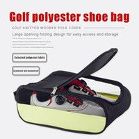 Golf Training Aids Shoes Bag Breathable Dust Proof Double Zip-Fastener Storage Case Sports Pouch Travel Bags
