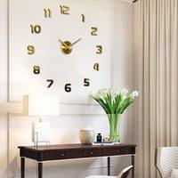 Wanduhren DKTIE 3D Acryl Uhr Spiegel Aufkleber Tisch Große Größe Einfache Mode DIY Kreative Heimdekoration