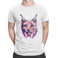 Lynx Cat Thirts Строительство Tee Tops Одежда футболка для мужчин Анти - морщина плюс натуральный анларач создать