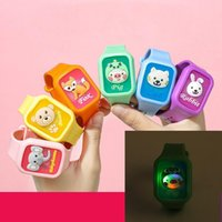 Square Children's Flash Watch Party Favor for children Cat Pig Rabbit Fox Bear Elephant Cartoon Mosquito Repellent Silicone Mosquit LD61501