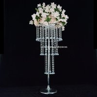 Party Decoration 10pcs ) 100cm Tall )Gorgeous Crystal Acrylic Flower Stand Centerpieces For Wedding Table TB3197