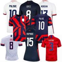 Jersey de football de l'Amérique 2019 2020 2021 2022 États-Unis Rapinoe Morgan ertz Lloyd Pulisic Hommes Hommes Femmes et enfants Chemise de football