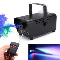 LED Stage Fog Machine Disco Colorful Smoke Mini Remote Fogger Ejector DJ Party di Natale