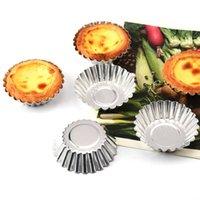Strumenti di torta 10pcs uovo Tart stampo in lega di alluminio stampo in lega di alluminio strumento cupcake frutta 7 cm diametro