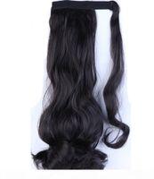 Loose Wave Tail Brasileiro Virgem Virgem Peças de Cabelo Humano Clip-in Roottail Hair Extensions 16inch cor natural