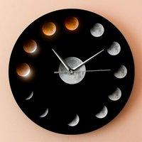Duvar Saatleri R Eclipse Skylight Saat Dış Çevrim Ay Dekoratörün Sessiz Yaratıcı Basit Hediye