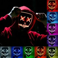 Halloween Mask LED Light Up Party Masks The Purge Election Year Great Funny Masks Festival Cosplay Costume Supplies Glow In Dark ZZA7521
