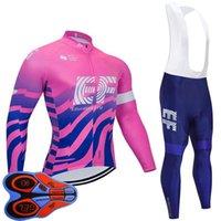 EF Eğitim İlk Takım Erkek Bisiklet Forması Bib Pantolon Suit Uzun Kollu MTB Bisiklet Gömlek Yol Bisikleti Giyim Spor Ropa Ciclismo S21050577