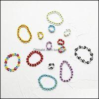 Charm Jewelrycharm Bracelets Omy Flower Seed Beads Bracelet Colorf Beaded Women Fashion Beach Jewelry For Girl Travel Drop Delivery 2021 Qhq