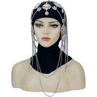Hair Clips & Barrettes Bridal Headpiece Crystal Rhinestone Chain Flapper Cap Wedding Gatsby Accessories Party Backside Forehead Head Band Pi