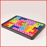 Decompression Toy Tetris Big Game Rainbow Chess Board Push Bubble Fidget Sensory Stress Relief Interactive PartyGame puzzle Toys